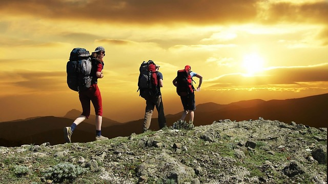 hikers on mountain