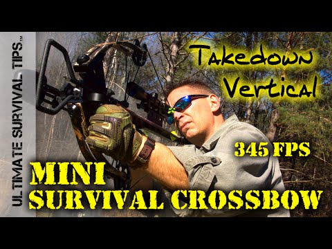 aiming the mini crossbow